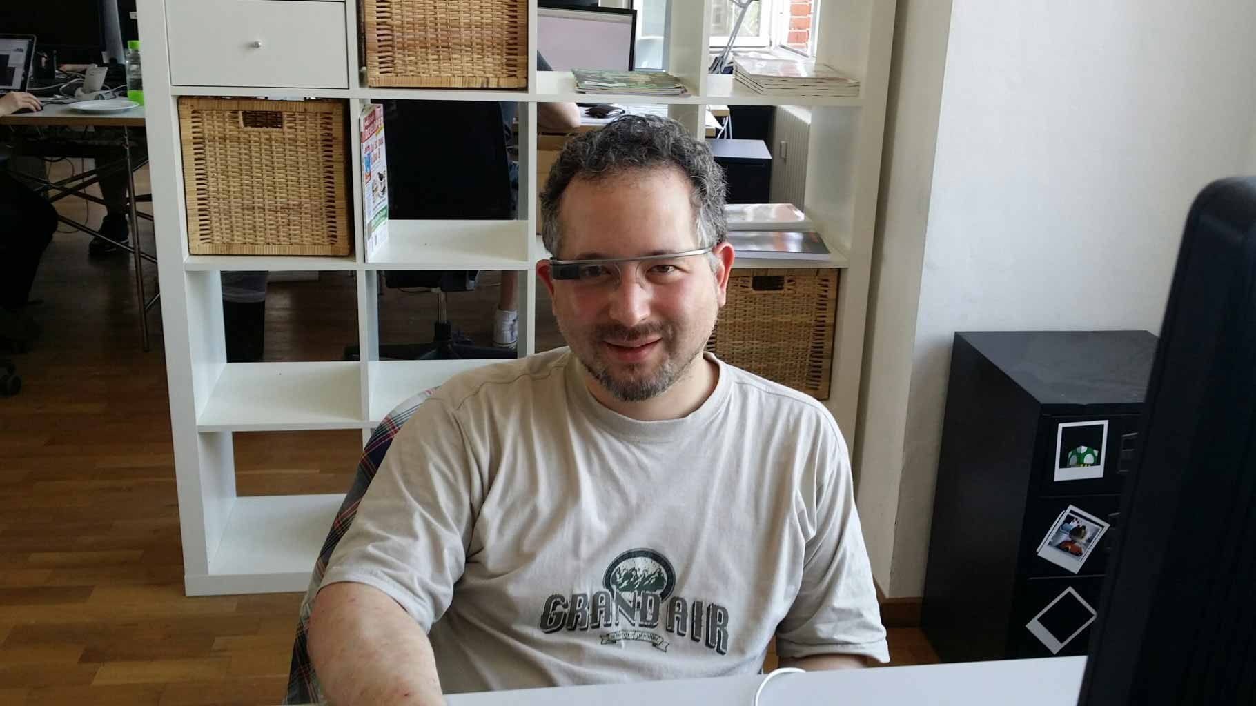 Tamio bei Aperto mit Google Glass
