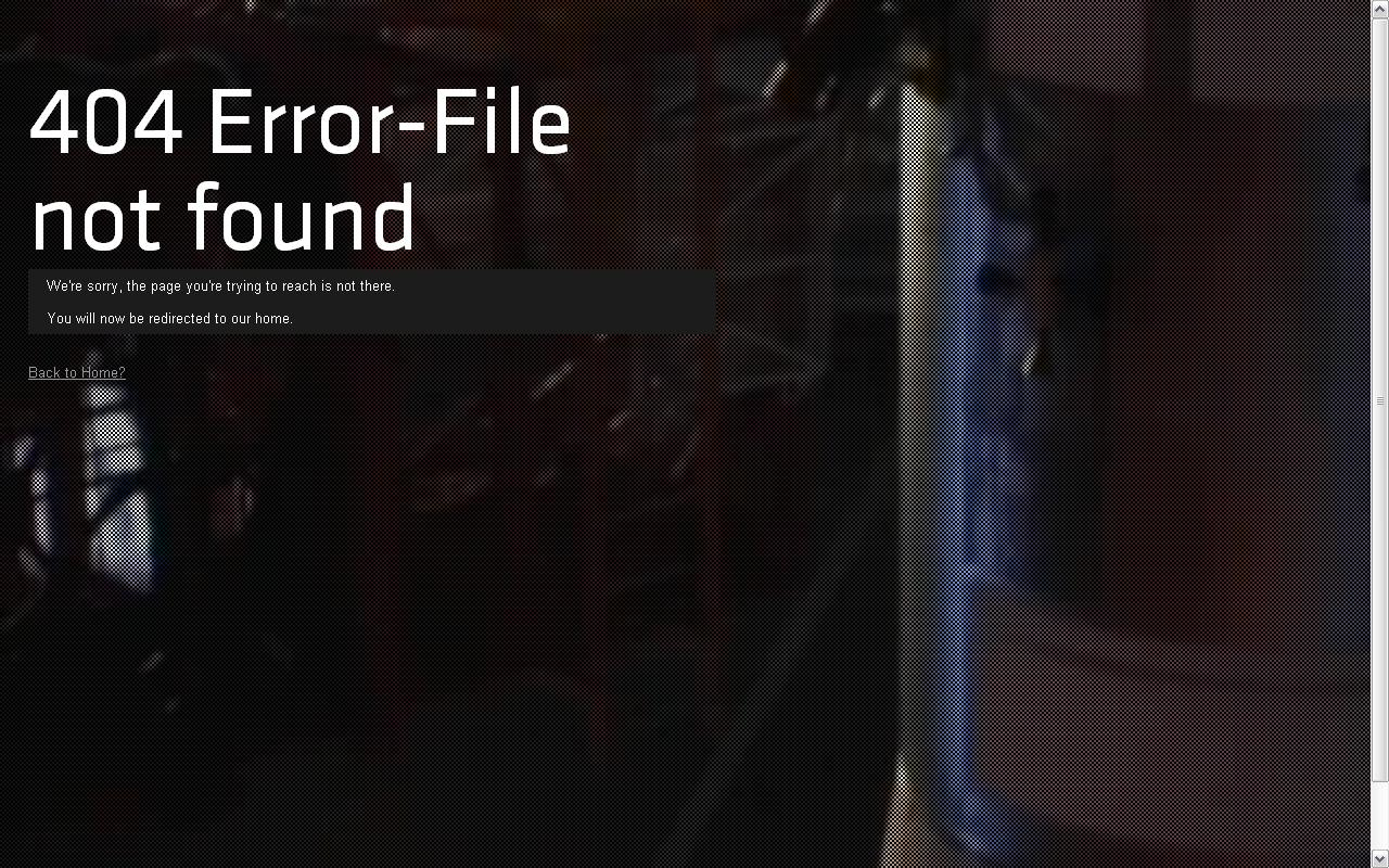 Bildschirmfüllendes Video im Hintergrund einer 404-Seite