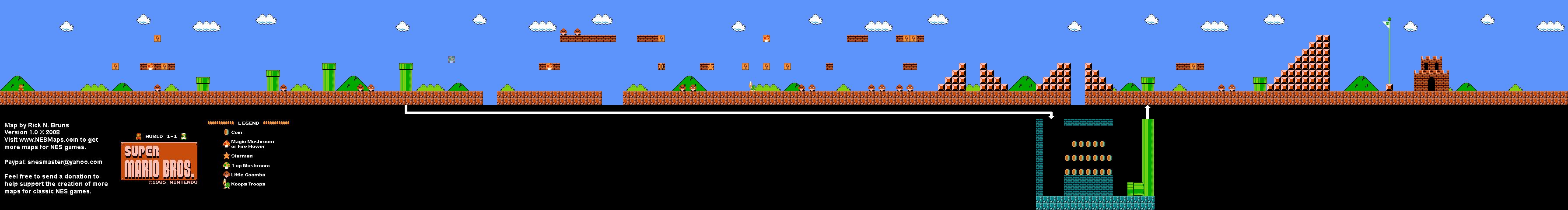 Super Mario Bros - Level 1